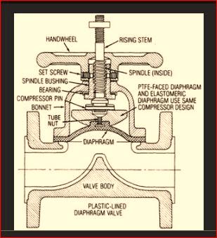 diaphgram valve structure