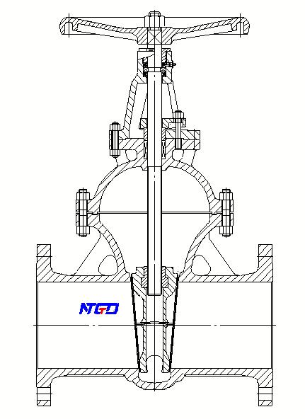 non rising stem gate valve