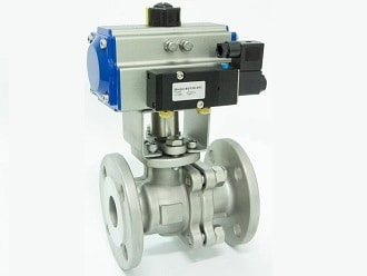 Actuated ball valve photo